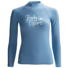 Body Glove Deluxe Rash Guard - Long Sleeve  (For Women) in Bonnie Blue - Closeouts