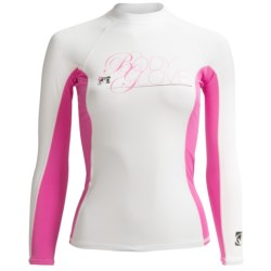 Body Glove Deluxe Rash Guard - Long Sleeve (For Women) in River Blue/White