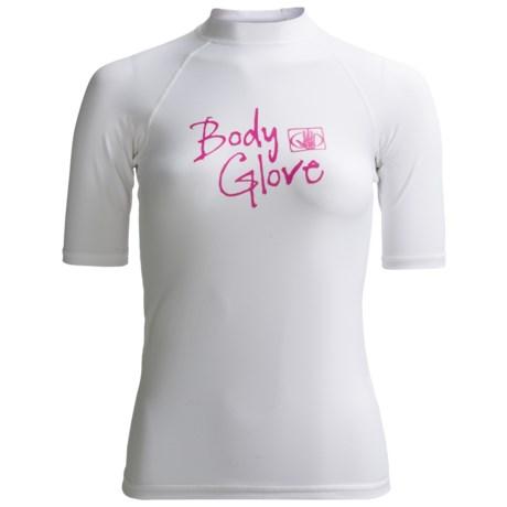 Body Glove Deluxe Rash Guard - Short Sleeve (For Women) in White