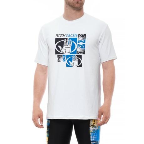 Body Glove Deluxe Rash Guard - UPF 50, Short Sleeve (For Men) in White