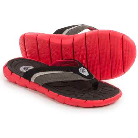 Body Glove Drifter Flip-Flops (For Men) in Black/Fiery Red - Closeouts