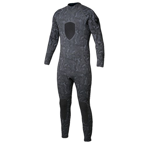 Body Glove EX3 Free Dive Full Wetsuit - 5mm (For Men) in Grey Camo