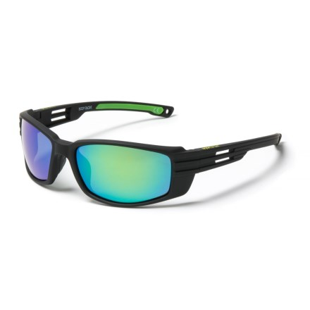 7ce96c46746 Body Glove FL 19 Mirror Sunglasses - Polarized (For Men) in Black Green