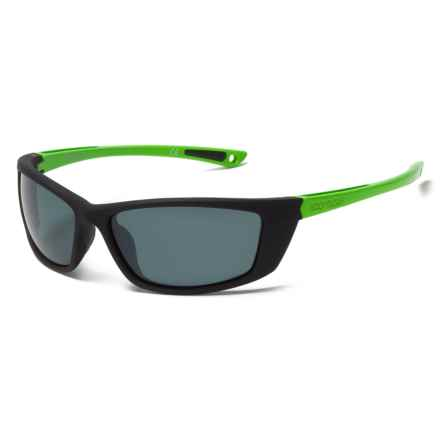 Body Glove FL 24 Sunglasses - Polarized in Black/Green/Smoke Mirror - Closeouts