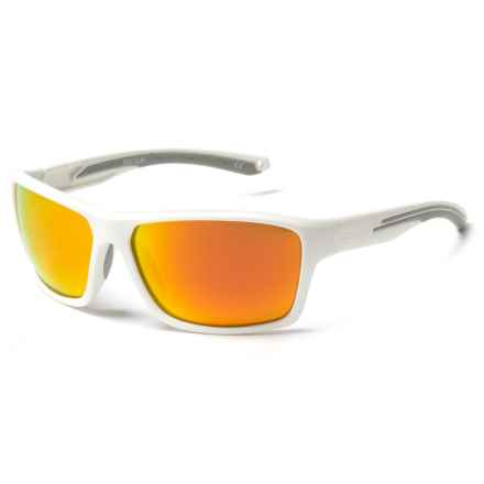 Body Glove Fl 26 Sunglasses - Polarized in White/ Orange Mirror - Closeouts