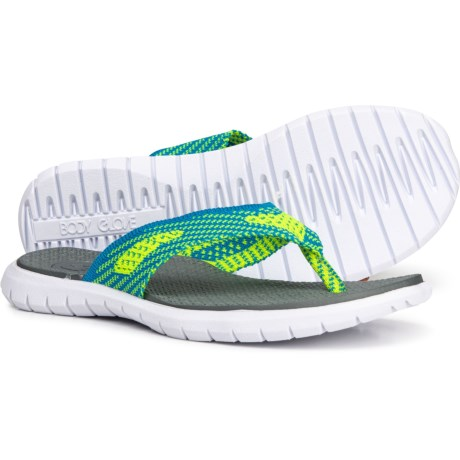 72b0f8bc530 Body Glove Frenzy Flip-Flops (For Women) in Neon Green Neon Blue