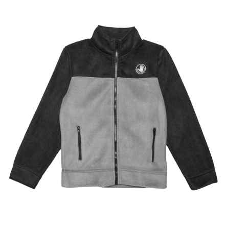 Body Glove Full-Zip Colorblock Fleece Jacket - Long Sleeve, Grey/Black (For Big Boys) in Grey/Black - Closeouts