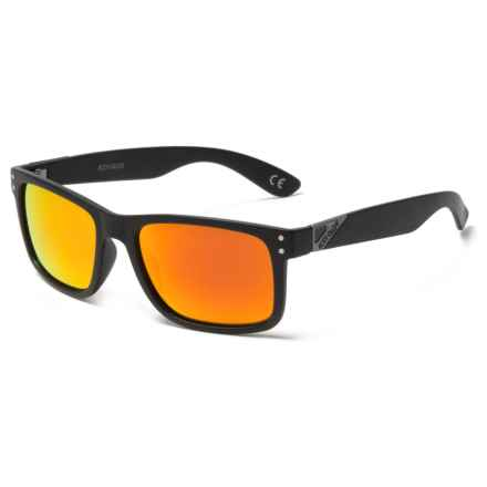 Body Glove G4412 Sunglasses - Polarized in Black/Orange Mirror - Closeouts