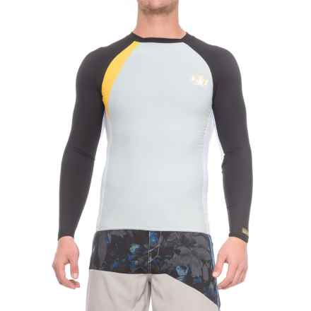 Body Glove High-Performance Long Arm Rash Guard - UPF 50+, Long Sleeve (For Men) in Silver/Black - Closeouts