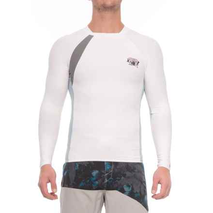 Body Glove High-Performance Long Arm Rash Guard - UPF 50+, Long Sleeve (For Men) in White/Silver - Closeouts