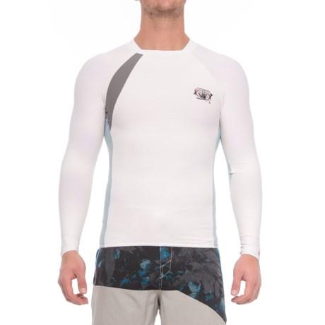Body Glove High-Performance Long Arm Rash Guard - UPF 50+, Long Sleeve (For Men) in White/Silver