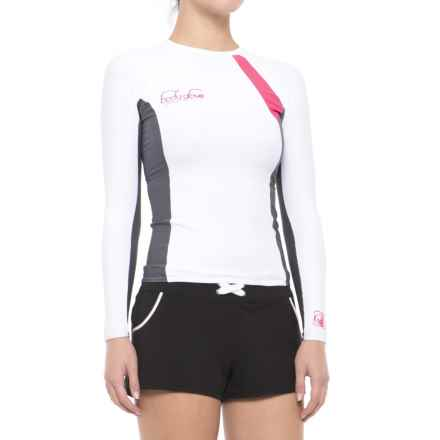 Body Glove High-Performance Rash Guard - UPF 50, Long Sleeve (For Women) in White/Ash - Closeouts