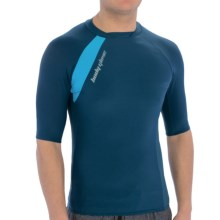 Body Glove High-Performance Rash Guard - UPF 50, Short Sleeve (For Men) in Ink Blue/Blue Steel/Electric Blue - Closeouts