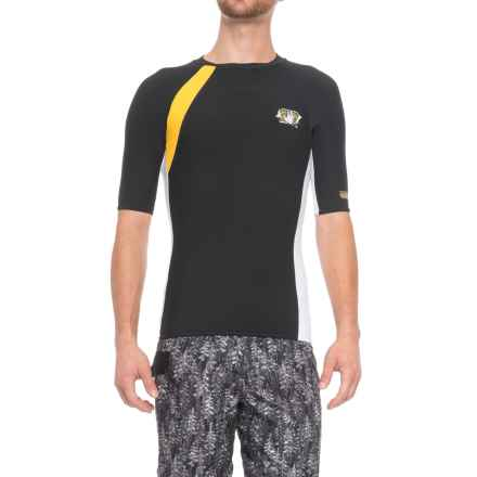 Body Glove High-Performance Rash Guard - UPF 50, Short Sleeve (For Men) in Silver/Black - Closeouts