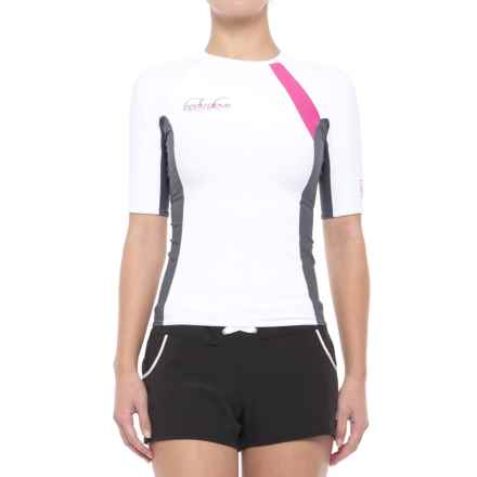 Body Glove High-Performance Rash Guard - UPF 50, Short Sleeve (For Women) in White/Ash - Closeouts