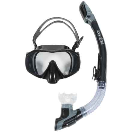 Body Glove Ignite Purge Snorkel and Mask Set (For Men and Women) in Black - Closeouts