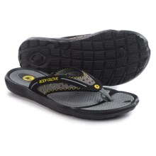Body Glove Kona Flip-Flops (For Men) in Black/Yellow - Closeouts