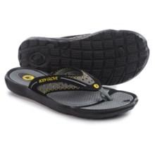 Body Glove Kona Flip-Flops (For Men) in Black/Yellow - Closeouts