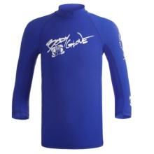 Body Glove Lycra® Rash Guard - Long Sleeve (For Kids and Youth) in Royal - Closeouts