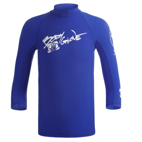 Body Glove Lycra® Rash Guard - Long Sleeve (For Kids and Youth) in Royal