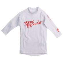 Body Glove Lycra® Rashguard - Long Sleeve (For Kids and Youth) in White/Red - Closeouts