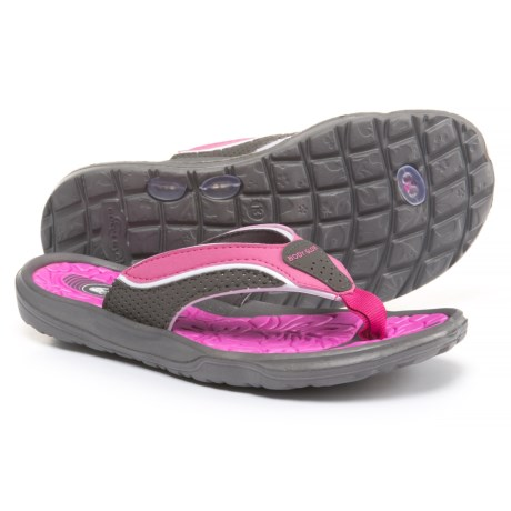 Body Glove Mali Flip-Flops (For Girls) in Grey/Pink