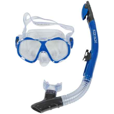 Body Glove Priflex Enlighten Snorkel and Mask Set (For Men and Women) in Blue - Closeouts