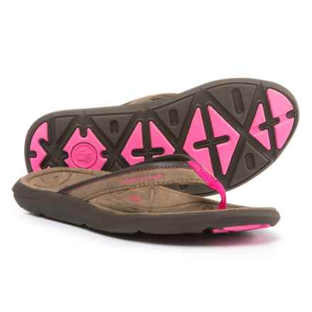 Body Glove Quest Flip-Flops (For Women) in Brown/Pink - Closeouts