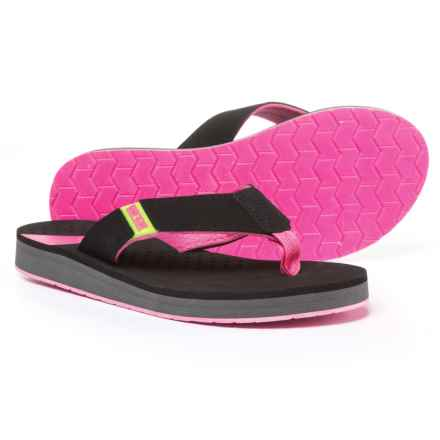 Body Glove Sandbar Flip-Flops (For Women) in Black/Neon Pink - Closeouts