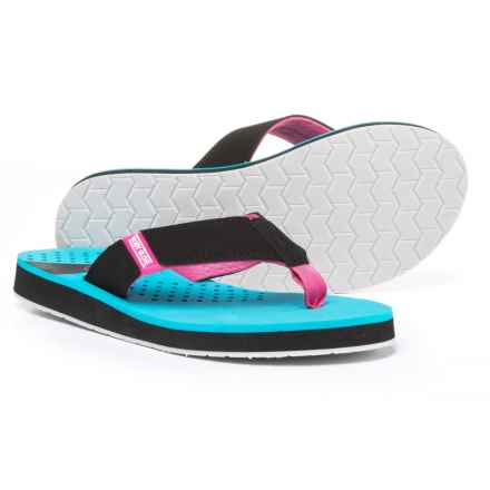 Body Glove Sandbar Flip-Flops (For Women) in Neon Blue/Black - Closeouts