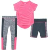 Body Glove Shirt, Shorts and Leggings Set - 3-Piece, Short Sleeve (For Little Girls)