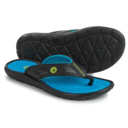 Body Glove Splash Flip-Flops (For Men) in Black/Blue - Closeouts
