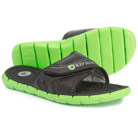 376418bfb1ae8 Body Glove Strapped Slide Sandals (For Men) in Black Neon Green - Closeouts