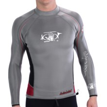 Body Glove Super Rover Wetsuit Top - 1mm, Long Sleeve (For Men) in Dark Grey/Black/Red - Closeouts
