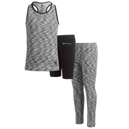 Body Glove Tank Top, Shorts and Capris Active Set - 3-Piece (For Big Girls) in Black - Closeouts