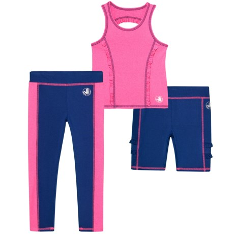 Body Glove Tank Top, Shorts and Leggings Set - 3-Piece (For Little Girls) in 687 Pink