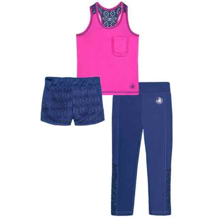 Body Glove Tank Top, Shorts and Leggings Set - 3-Piece (For Toddler Girls) in 687 Pink - Closeouts