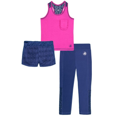 Body Glove Tank Top, Shorts and Leggings Set - 3-Piece (For Toddler Girls) in 687 Pink