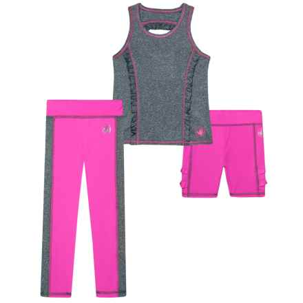 Body Glove Tank Top, Shorts and Leggings Set - 3-Piece (For Toddler Girls) in Grey - Closeouts