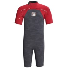Body Glove Vapor Springsuit - 2/1mm, Short Sleeve (For Men) in Charcoal Camo/Red/Black - Closeouts