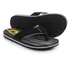 Body Glove Woody Flip- Flops (For Men) in Black/Yellow - Closeouts