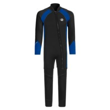 Body Glove X2 Combo Dive Suit - 3mm, John and Jacket (For Men) in Black/Royal/Black - Closeouts