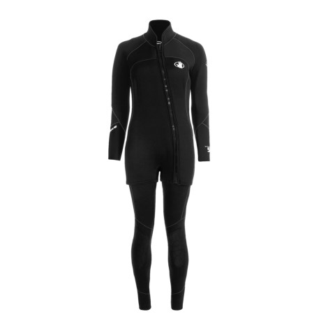 Body Glove X2 Combo Diving Wetsuit - 5mm, John and Jacket Combo (For Women) in Black