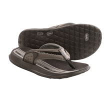 Body Gloves Cruise II Flip-Flops (For Little and Big Kids) in Grey/Black - Closeouts