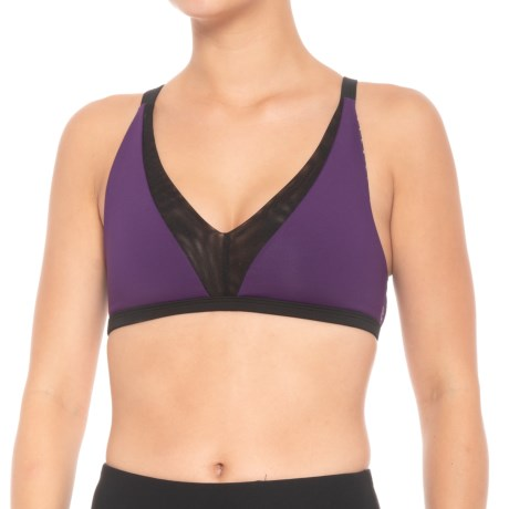 Body Language Stella Reversible Sports Bra - Low Impact (For Women) in Omni/Plum