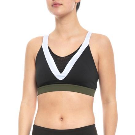 7974b9eef2637 Body Language Venus Sports Bra (For Women) in Black White Olive