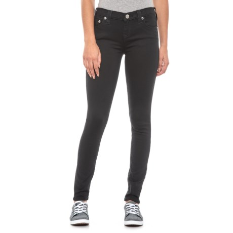 Image of Body Rinse Black Halle Crystal Logo Skinny Jeans (For Women)
