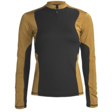 Body Up Ciao Pullover Shirt - Zip Neck, Long Sleeve (For Women) in Black/Gold - Closeouts