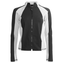 Body Up Endurance Jacket (For Women) in Black/White - Closeouts