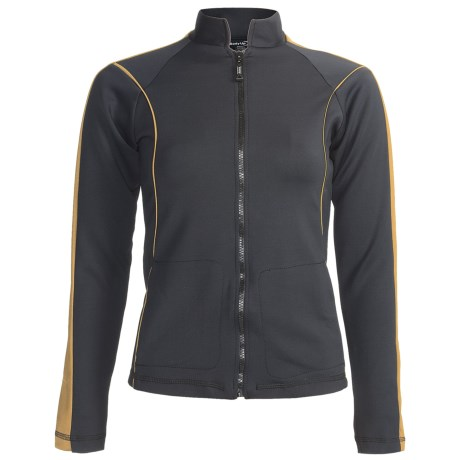 Body Up First Class Jacket (For Women) in Black/Gold